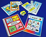 Deluxe Visual Aid Starter Set - My First PECS Book - PECS Choice Board - 100 Pre-cut PECS with velcro - 2 Social Stories - Bathroom Schedules - Transitional Keyring