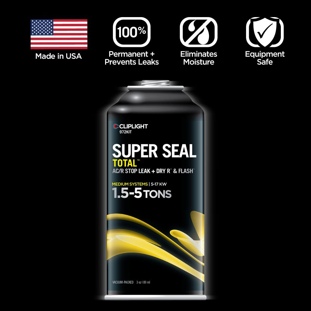 Cliplight Super Seal Total 972KIT - Permanently Seals & Prevents Leaks in A/C & Refrigeration Systems - 1.5-5 TONS by Cliplight (Image #2)