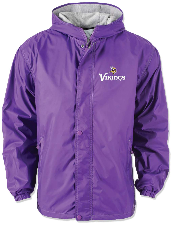 super popular b76c9 3733f Dunbrooke Apparel NFL Minnesota Vikings Legacy Nylon Hooded Jacket, Small,  Purple