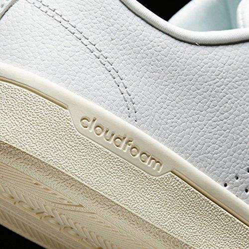 adidas Cloudfoam Advantage Clean W Damen Sportschuhe Bianco (Ftwbla/Ftwbla/Agucla)