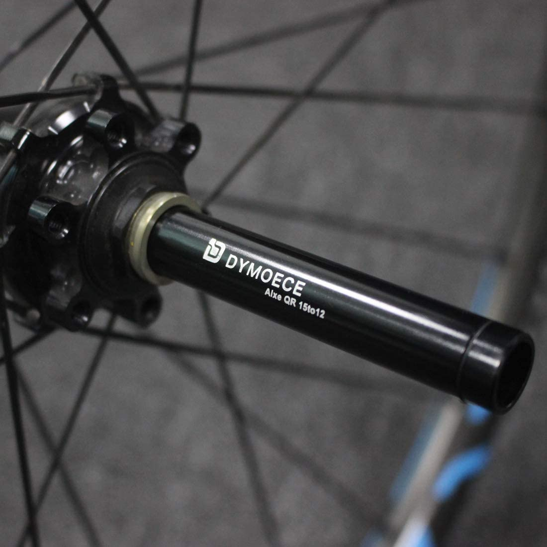 Dymoece Bicycle Wheel Fork Axle Front Rear Thru Axle Adapter for Road Moutain Bike
