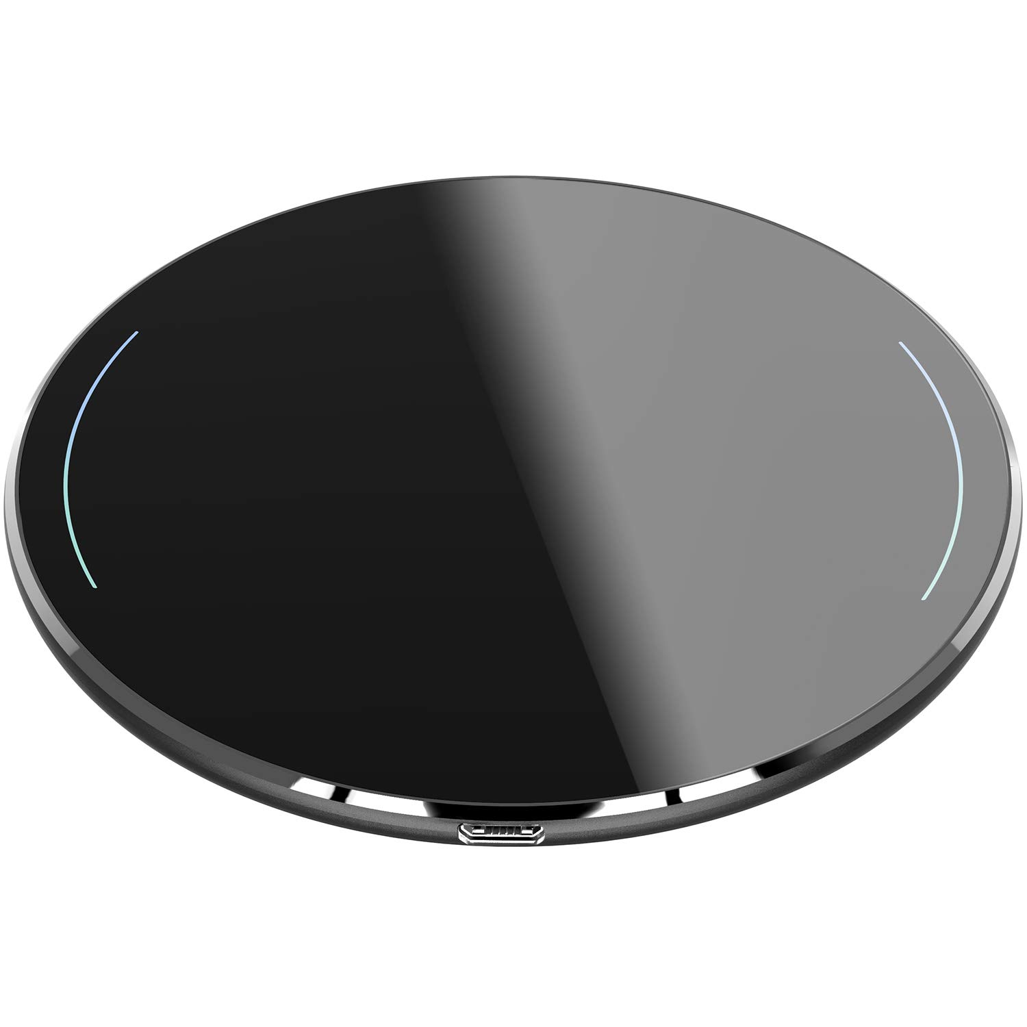 TOZO Wireless Charger Upgraded, Ultra Thin Aviation Aluminum [Sleep-Friendly] FastCharging Pad for iPhone Xs, XR, Xs Max, X, 8 Plus Samsung Galaxy S8-S10+, Note 8 9 [Black] - NO AC Adapter by TOZO