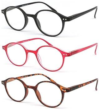 9f952a0f071fe8 Lot 3 lunettes de lecture tendances et souple charniere ressort Flex (+1)