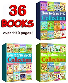 How to Draw Collection 1-36 Books (Over 1110 Pages) (How to Draw Collections Book 7) by [offir, amit]