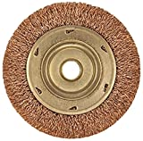 Ampco Safety Tools WB-45A Wheel Crimped Wire Brush, Non-Sparking, Non-Magnetic, Corrosion Resistant, 4'' Diameter