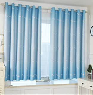 Yiyida Blue With Cloud Pattern Kids Room Blackout Curtain Thermal Insulated For Bedroom 1m X