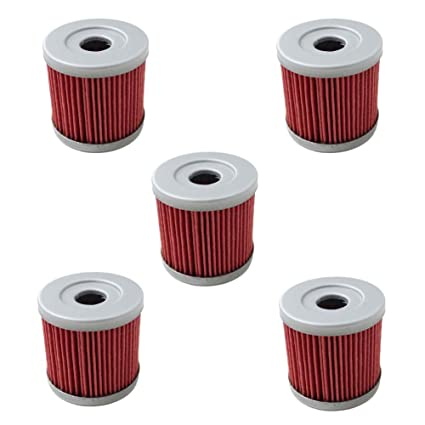 Amazon.com: Pack of 5 Oil Filter fit for Suzuki Z400 LTZ400 LT-Z400 ...