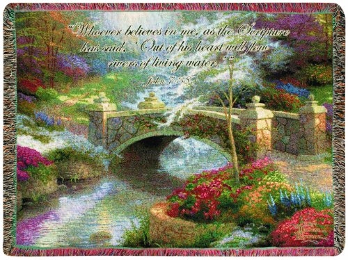 Manual Inspirational Collection Tapestry Throw with Verse, Bridge of Hope by Thomas Kinkade, 60 X (2007 Flow Amp)