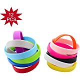 Green House-Wholesale 12pcs/5pcs/set Mixed Colors Blank Silicone Wristbands,Rubber Bracelets(Shipped from US)