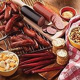 Gourmet Foods, Meats, The Tailgater, 1 lb. Smoked Bratwurst 1 lb. Cheddar Bratwurst 14 oz. Double-Smoked Summer Sausage 14 oz. Light-Smoked Summer Sausage 8 oz. Beef Snack Sticks 7.5 oz. Sesame & Roas