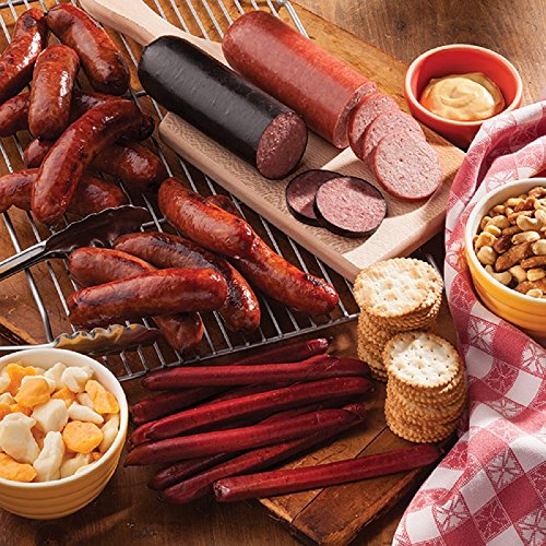 Gourmet Foods, Meats, The Tailgater, 1 lb. Smoked Bratwurst 1 lb. Cheddar Bratwurst 14 oz. Double-Smoked Summer Sausage 14 oz. Light-Smoked Summer Sausage 8 oz. Beef Snack Sticks 7.5 oz. Sesame & Roas by Unknown