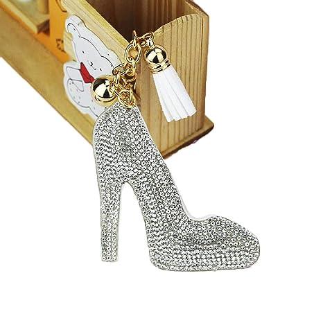 Amazon.com: DLciwi - Llavero para mujer, diseño de diamante ...