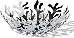 """Alessi """"Mediterraneo"""" Fruit Bowl in 18/10 Stainless Steel Mirror Polished, Silver - ESI01/25"""