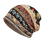 Jemis Skullies Beanies Thin Bonnet Cap Autumn Casual Beanies Hat (Brown)