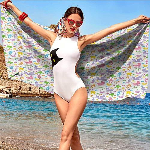 xixiBO Microfiber Swimming Pool Beach Towel W28 xL55 Baby,Newborn Toys Stroller Quick-Drying Bath Towel