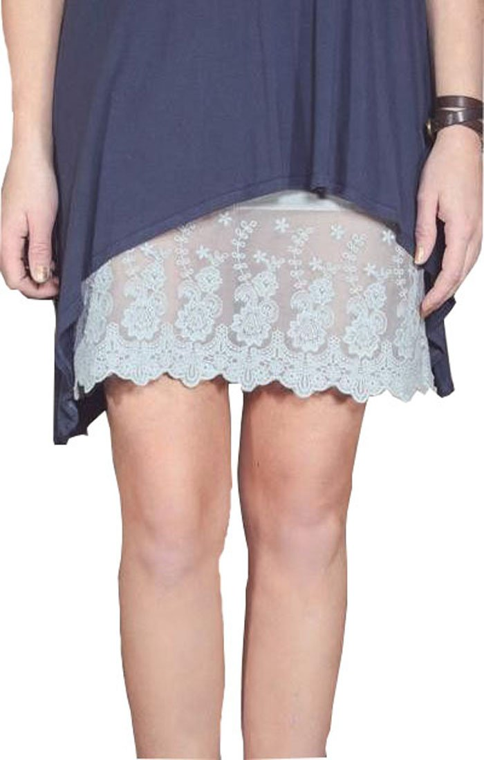 Boot Cuffs & Socks Lace Dress Extender (XXX-Large, Cool Grey)