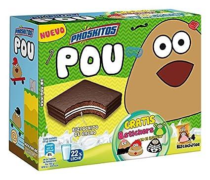 Phoskitos Pou - Producto de pasteleria con relleno de leche y chocolate: Amazon.es: Alimentación y bebidas