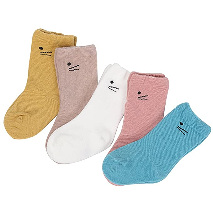 Amazon.com: Zhhlinyuan Kids Boys Girls Cotton Cute Socks Breathable Flexible Mid Tube Socks: Clothing