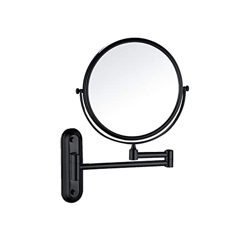Charmer Wall Mounted Cosmetic Mirror Minimalism Design Makeup Mirror Dual Side Shaving Mirror Swivel Bathroom Mirror Beauty Mirror for Sample room with 10x Magnification ORB Finish for Hospitality