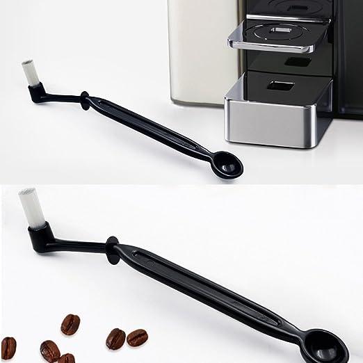 qiman 2 en 1 cafetera eléctrica grouphead Cepillo de limpieza Detergente Cuchara acodado Scoop: Amazon.es: Hogar