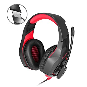 Auriculares gaming para PS4 o PC,Cascos Gaming con cable y LED para PC,