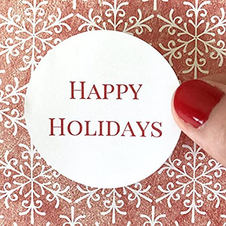 Happy Holidays Label Holiday Label Envelope Seal Holiday Sticker Return Address Label Christmas Label Christmas Sticker