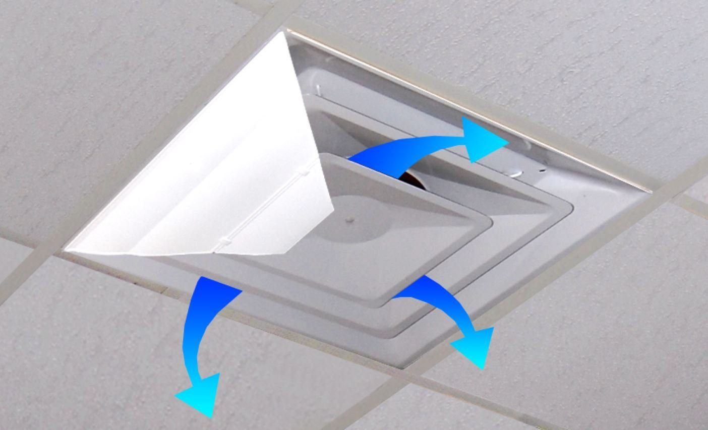 "Airvisor Air Deflector For Office Ceiling Vents (24"" X 24"") 14"