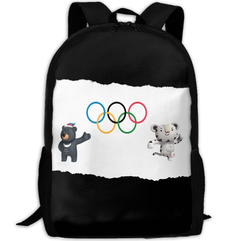 ad51c95cb3 best Pyeongchang 2018 Winter Olympics Mascot Logo Fashion Backpack College  School Laptop Bag Daypack Travel Shoulder
