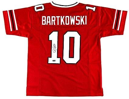 267df10e51a Steve Bartkowski Signed Jersey - Throwback Custom Red - Autographed NFL  Jerseys