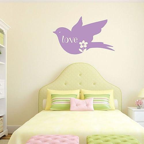 Amazon Com Love Bird Wall Decor Flower Vinyl Sticker Art