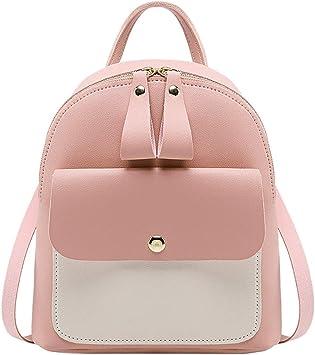 Women/'s Backpack Travel PU Leather Rucksack Handbag School Shoulder Bag Medium