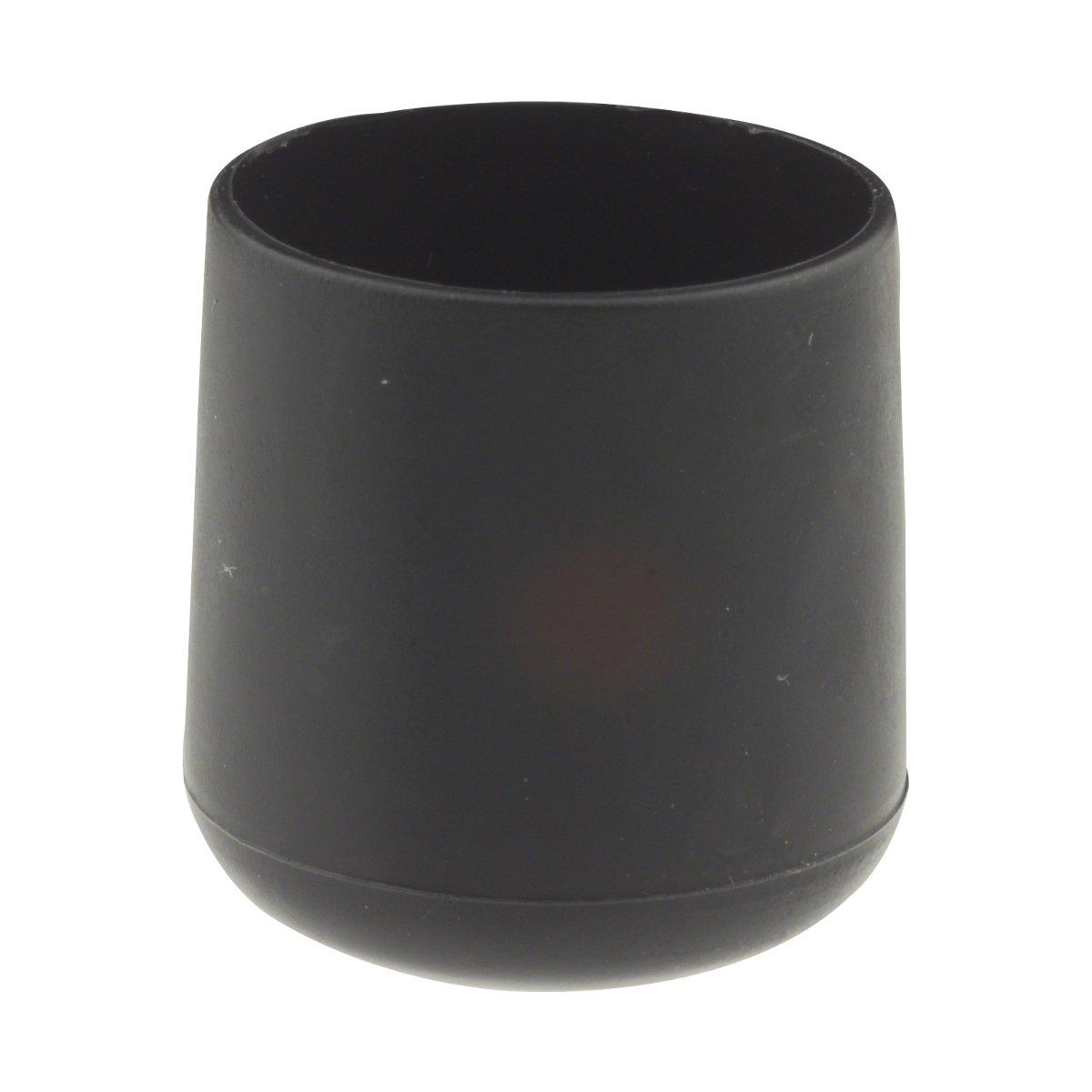 20 St/ück Gleitkappen schwarz /Ø 22 mm
