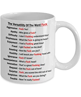 the versatility of the word f ck funny coffee mug c funny coffee