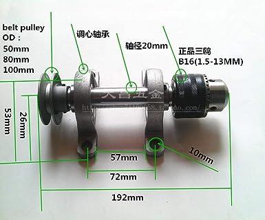 Impresora 3D - Eje sin alimentación B16 Chuck 1.5 - 13 mm ...