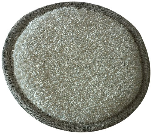 LinenMe Linen Terry Body Pad, 6-Inch Round, Cream