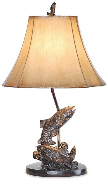 Vintage direct lake trout fishing table lamp amazon vintage direct lake trout fishing table lamp aloadofball Images