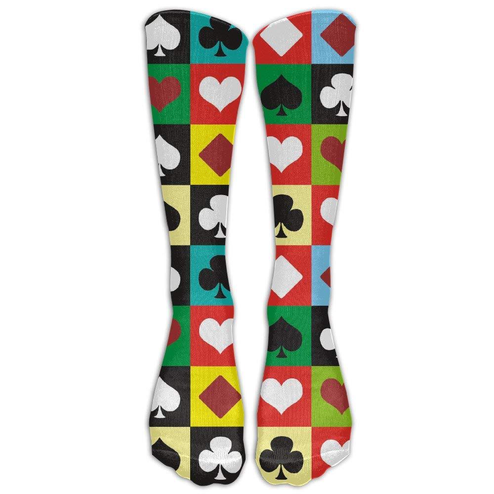 Colors Poker Below High Socks Suits Women /& Men Athletic Sports Socks Stocking