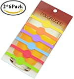 BoomYou Drink Markers Beer Glass Cup Vino Wine Cocktail Glass Bottle Strip Tag Marker Party Solution for Guests - 12 pack