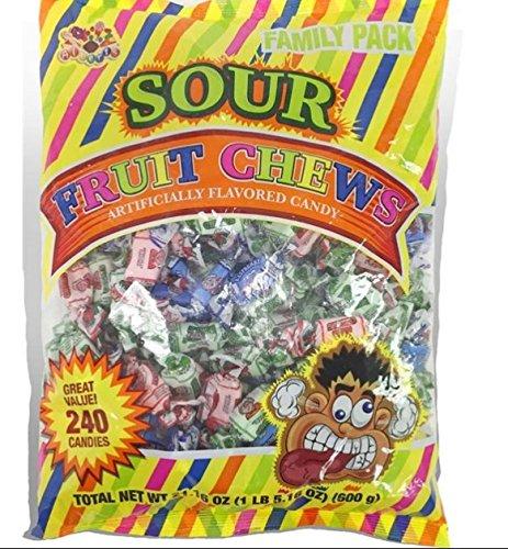 Albert's Sour Fruit Chews 21.16 Oz 240 -