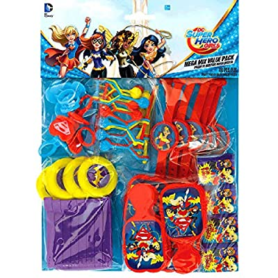 Amscan DC Super Hero Girls Value Pack Party Favors: Toys & Games