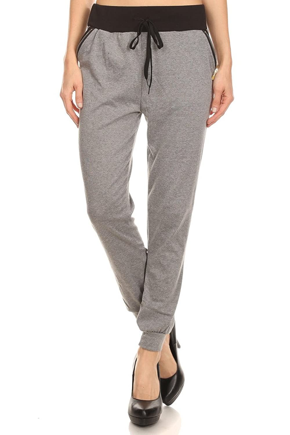 2ND DATE Women's Relaxed Poly Cotton Jogger Pants