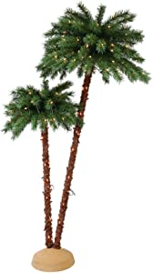Puleo International 3.5 6 Foot Pre-Lit Artificial Palm Tree with 175 UL Lights