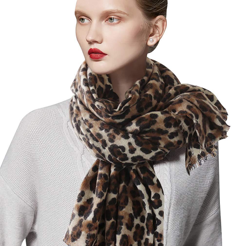 DAMILY Femmes Hiver Trendy Léopard Imprimé Animal Echarpe Châle Wrap Élégant  Long Pashmina Couverture Foulards product 97248a00692