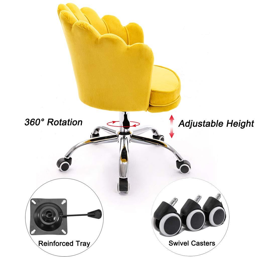 Ryggstöd datorstol 360 ° rotation vardagsrum stol konferensrum uppgift skrivbord stolar med hög motståndskraft svamp 5-benta bas med hållbara underlägg snygga sovrumsmöbler Grå