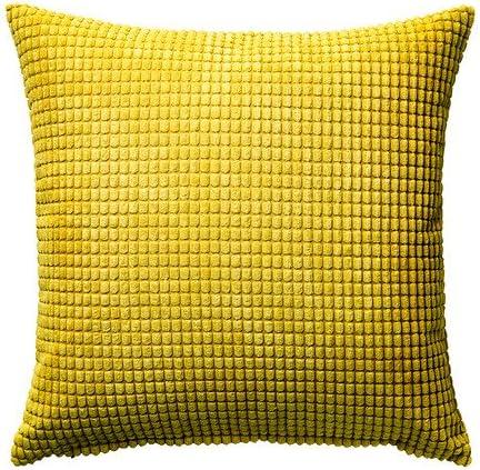 IKEA GULLKLOCKA-Funda para cojín, color amarillo, 50 x 50 cm