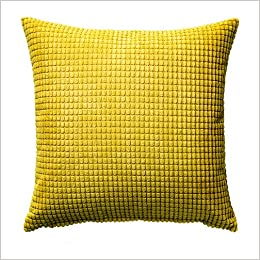 Ikea Gullklocka Yellow Chenille Cushion Cover 20