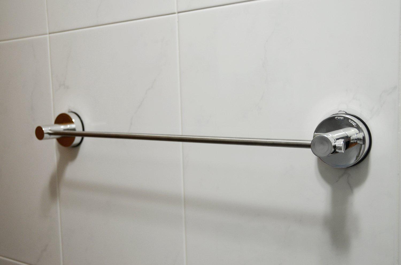 amazoncom genexice suction towel bar chrome home kitchen