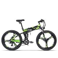 Vélo électrique Vélo de montagne VTT pour hommes Batterie Lithium-ion RT860 12.8Ah 7 niveaux Pedelec vitesse haute fonction tachymètre 50-60KM cadre pliable Double suspension