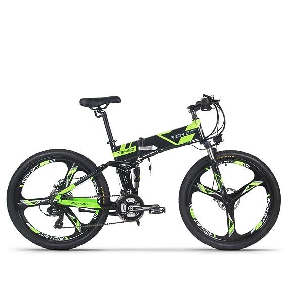 Bicicletta Eléctrico Bicicletta de montaña MTB hombres bici Ciclismo Rich Bit® RT860 36V*250W 21 Velocidad Shimano Marco plegable de aluminio Suspensión ...
