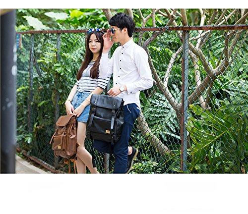 Backpack Everyday Party Demarkt School College Shoulder Black Leather Color Bag wadBqd